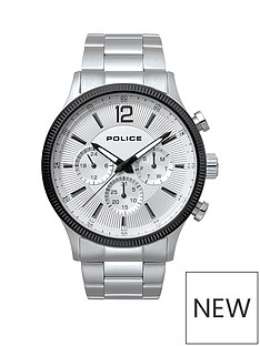 police-police-feral-white-multi-dial-stainless-steel-bracelet-gents-watch