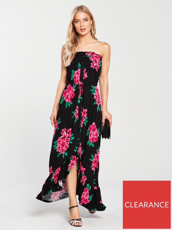 a00ad6372c80 V by Very Tall Dip Back Button Through Jersey Dress - Floral Print ...