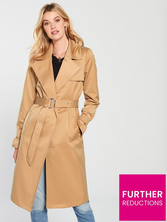 336f692d8ebf V by Very Trench Coat - Camel | very.co.uk