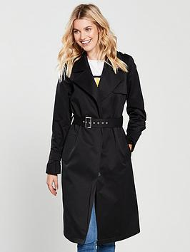 V By Very Trench Coat - Black