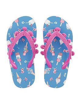 monsoon-girls-evie-ice-cream-pom-pom-flip-flop