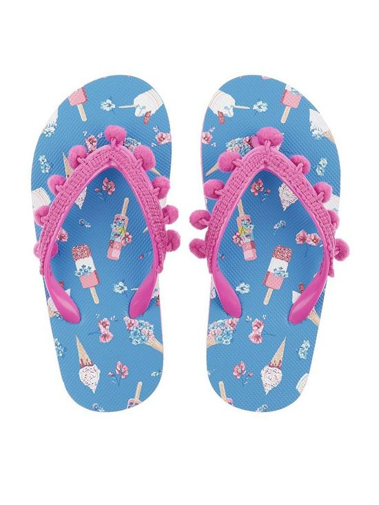 4686cf970c1c Monsoon Girls Evie Ice Cream Pom Pom Flip Flop