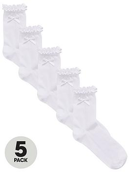 v-by-very-girls-pk5-frill-bow-ankle-socks