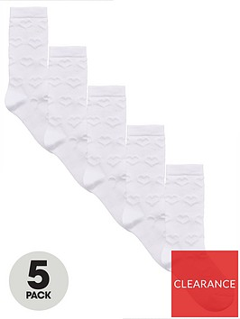 v-by-very-5-pack-girls-knee-lengthnbspsocks-white