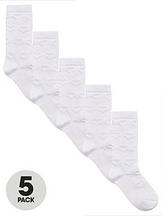 v-by-very-girls-pk5-knee-length-filet-stitch-socks