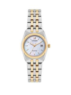citizen-citizen-eco-drive-corso-mother-of-pearl-dial-two-tone-stainless-steel-bracelet-ladies-watch