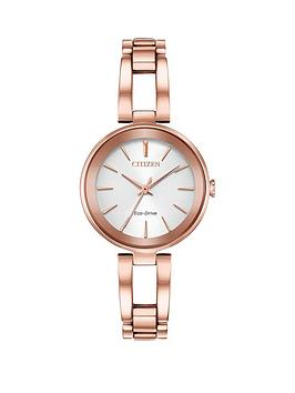 citizen-eco-drive-white-dial-rose-gold-tone-bracelet-ladies-watch