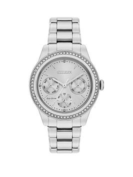 citizen-citizen-eco-drive-silver-dial-stone-set-stainless-steel-bracelet-ladies-watch