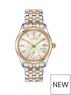 citizen-citizen-eco-drive-mother-of-pearl-dial-two-tone-stainless-steel-bracelet-ladies-watch