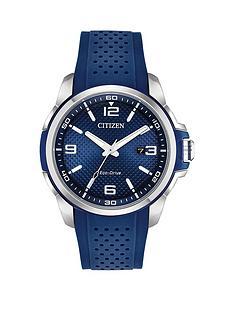 citizen-citizen-eco-drive-blue-dial-blue-rubber-strap-mens-watch