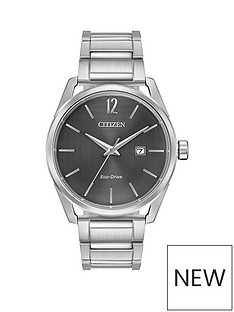 citizen-citizen-eco-drive-gunmetal-grey-dial-stainless-steel-bracelet-mens-watch