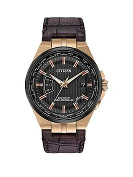 citizen-eco-drive-world-perpetual-a-t-black-dial-brown-leather-strap-mens-watch