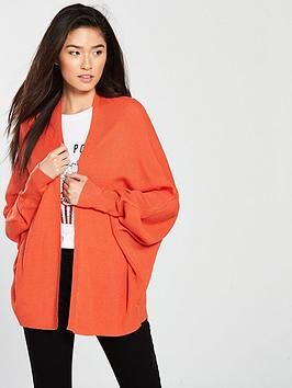 v-by-very-ribbednbspbatwing-cardigan-red-orange