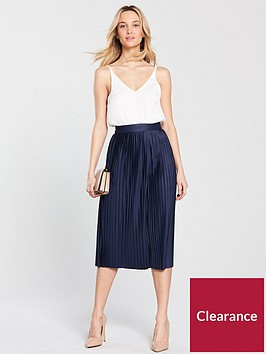 ax-paris-2-in-1-pleated-midi-dress-navy