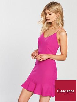 ax-paris-petite-strappy-frill-hem-mini-dress
