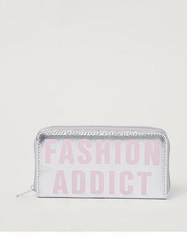 river-island-girls-silver-metallic-lsquofashion-addictrsquo-purse