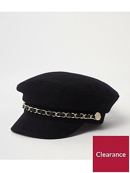 river-island-mini-girls-black-chain-trim-baker-boy-hat