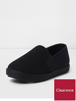 river-island-mini-boys-black-slip-on-plimsoll