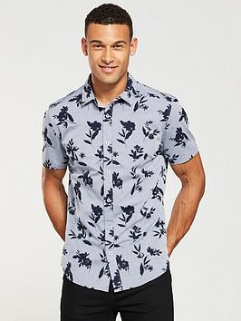 v-by-very-slim-fit-short-sleeved-chambray-floral-shirt