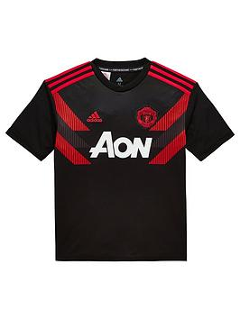 adidas-youth-manchester-united-pre-match-jersey-blackred