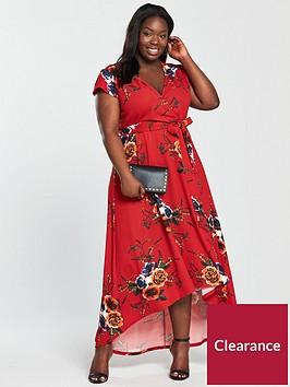 ax-paris-curve-floral-wrap-maxi-dress-rednbsp