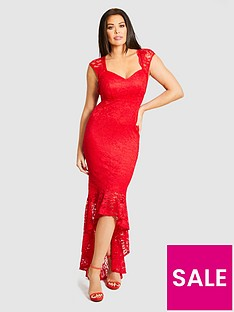 jessica-wright-lace-fishtail-maxi-dress-red