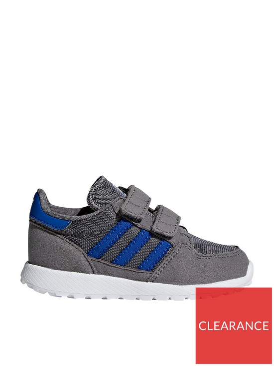 new style 3e37d b54ba adidas Originals Forest Grove Infant Trainers - Grey Blue