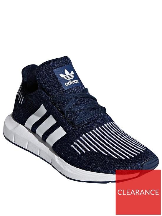 84241898aa44f adidas Originals Swift Run Junior Trainer - Blue/White | very.co.uk