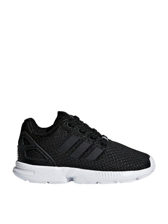5922e51ece672 adidas Originals ZX Flux Infant Trainer - Black