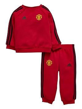 adidas-manchester-united-younger-child-3-stripe-jogger-suit-redblack