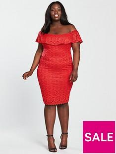 ax-paris-curve-curve-frill-off-shoulder-lace-midi-dress-rednbsp