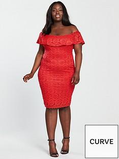 ax-paris-curve-frill-off-shoulder-lace-midi-dress-rednbsp