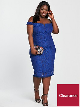 ax-paris-curve-v-notch-lace-midi-dress-cobaltnbsp