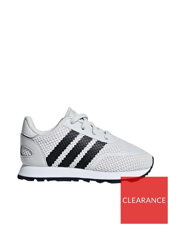 0b13de61e4b0 adidas Originals N-5923 Infant Trainers - Grey Black