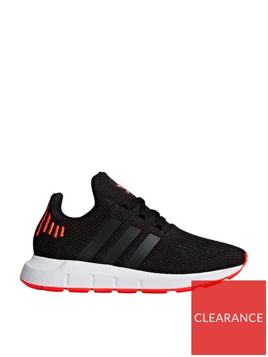 2a719287f4fa adidas Originals Swift Run Childrens Trainer - Black Orange