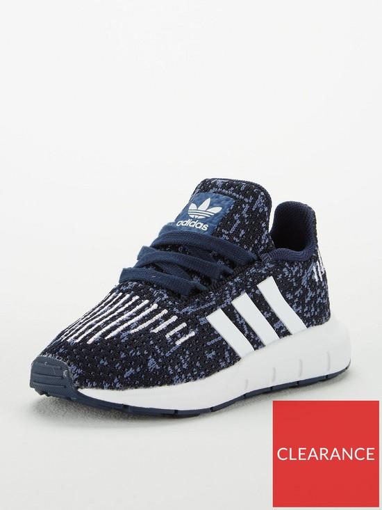 2575c9612d241 adidas Originals Swift Run Infant Trainer - Blue White