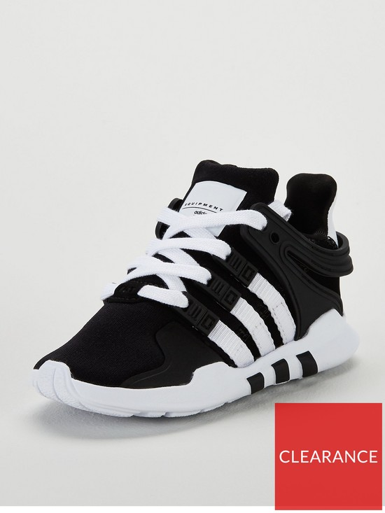 b3033e2477fe adidas Originals EQT Support Infant Trainer - Black White