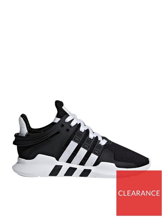 adidas Originals EQT Support ADV Childrens Trainer - Black White ... b31c57c97