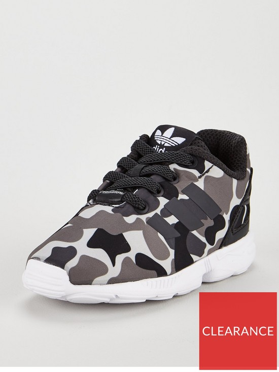 aabb9979d18 adidas Originals ZX Flux Infant Trainer - Camo Print | very.co.uk