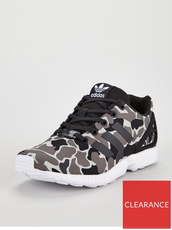 51f6eae237d adidas Originals ZX Flux Junior Trainer - Camo | very.co.uk