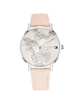 tommy-hilfiger-tommy-hilfiger-light-rose-gold-floral-dial-blush-leather-strap-ladies-watch