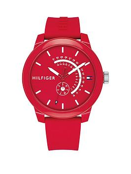 tommy-hilfiger-tommy-hilfiger-red-multi-function-silicone-strap-mens-watch