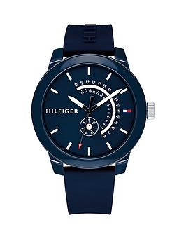 tommy-hilfiger-tommy-hilfiger-blue-multi-function-silicone-strap-mens-watch