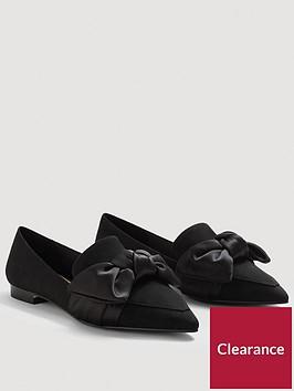 mango-loti-satin-bow-shoes-black