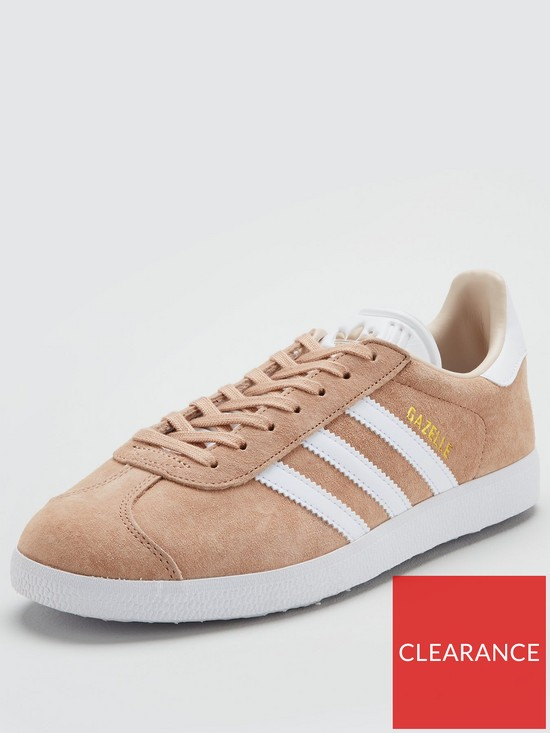 adidas originals beige gazelle trainers