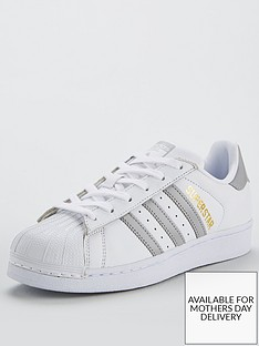 adidas Originals Superstar - White Silver 82f9b265fe5a4
