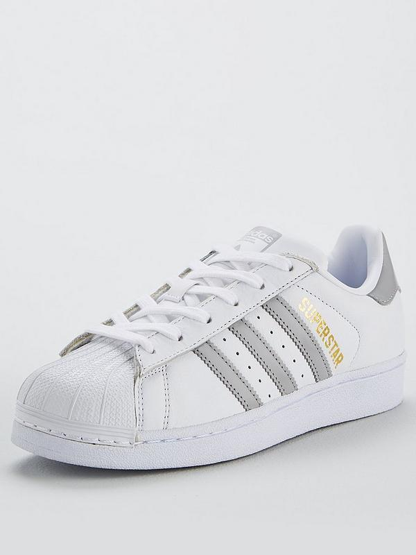 arriving more photos how to buy Superstar - White/Silver