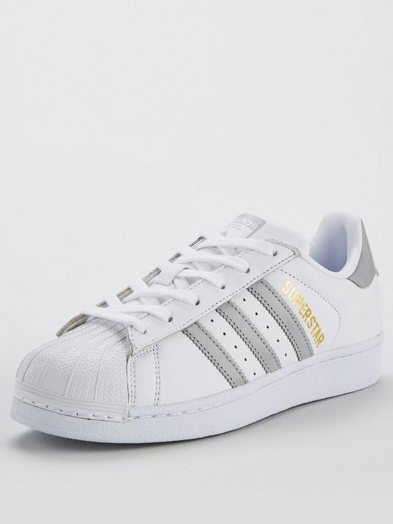 adidas Superstar White Silver: