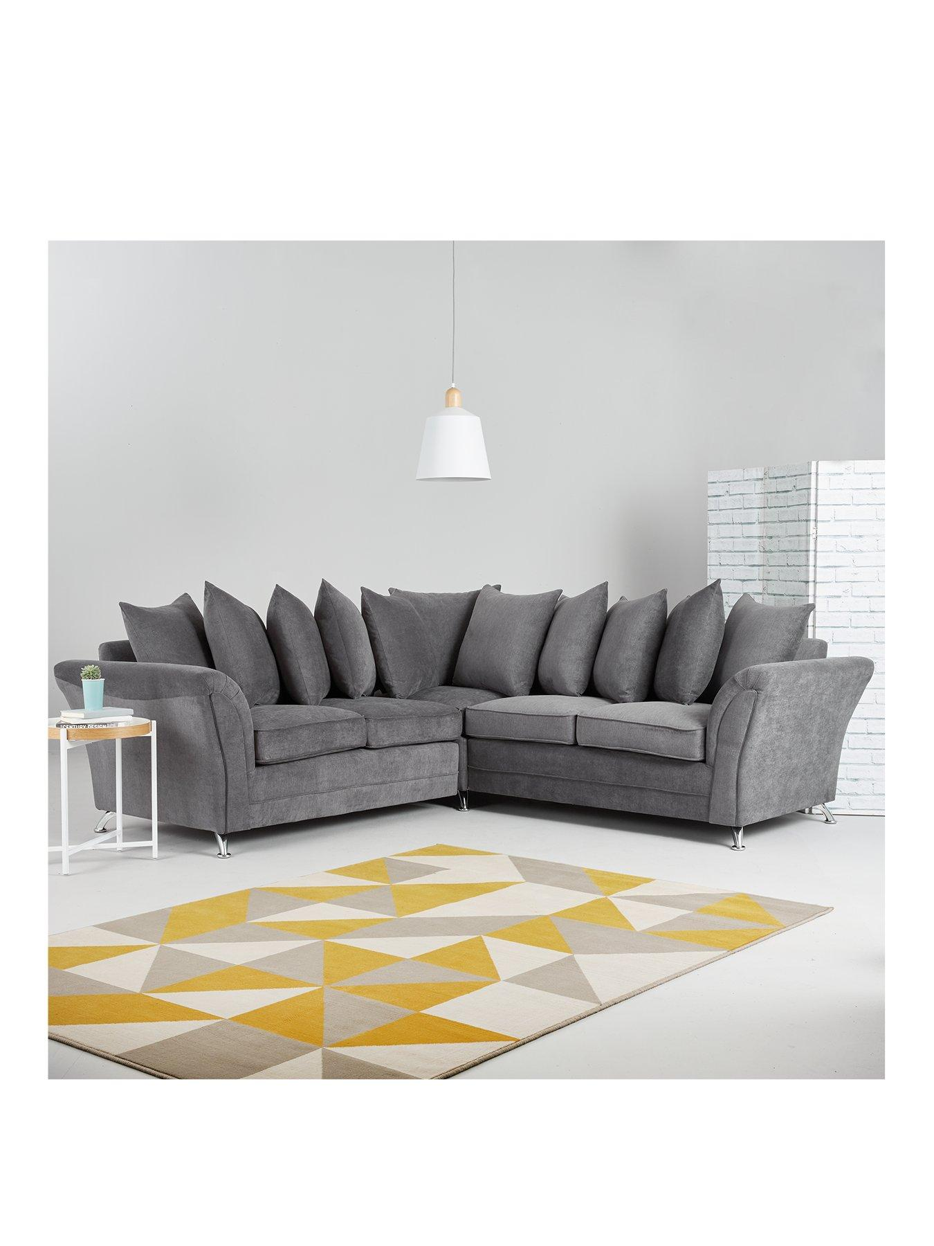 Dury Fabric Corner Group Scatter Back Sofa | very.co.uk