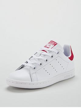 adidas-originals-stan-smith-childrens-trainer-whiterednbsp